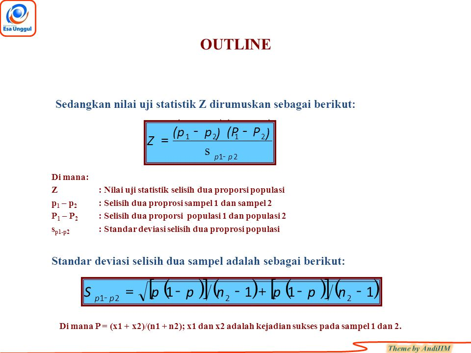 [ ] ( ) ( ) ( ) OUTLINE 1 - + = n p S - Z s = ) (p p (P - P